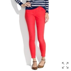 Madewell Red Skinny Corduroy Pants Size 24